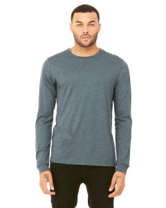 Heather Slate Men's Jersey Long-Sleeve T-Shirt