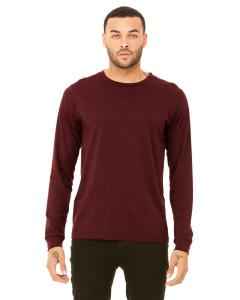 Heather Cardinal Men's Jersey Long-Sleeve T-Shirt