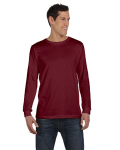 Maroon Triblend Men's Jersey Long-Sleeve T-Shirt