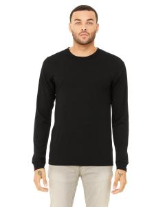 Solid Blk Tribln Men's Jersey Long-Sleeve T-Shirt