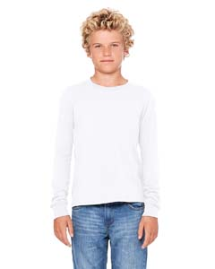 White Youth Jersey Long-Sleeve T-Shirt
