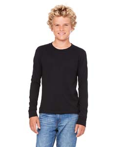Black Youth Jersey Long-Sleeve T-Shirt