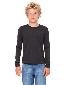 Dk Grey Hthr Youth Jersey Long-Sleeve T-Shirt