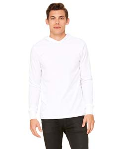 White Unisex Jersey Long-Sleeve Hoodie
