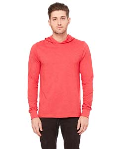 Heather Red Unisex Jersey Long-Sleeve Hoodie
