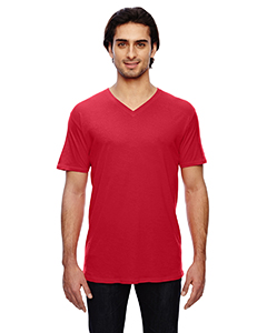 Red 3.2 oz. Featherweight Short-Sleeve V-Neck T-Shirt