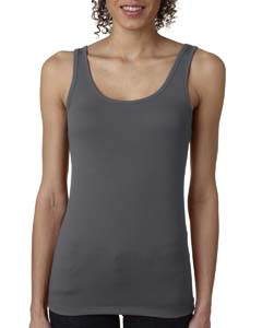 Dark Gray Ladies' Jersey Tank Top