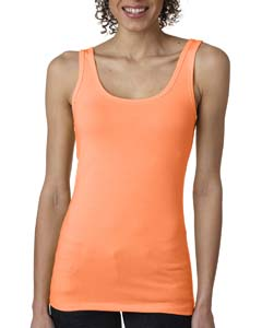 Neon Hthr Orang Ladies' Jersey Tank Top