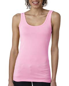 Neon Hthr Pink Ladies' Jersey Tank Top