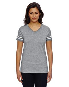 Vn Hthr/ Bld Wht Ladies' Football T-Shirt
