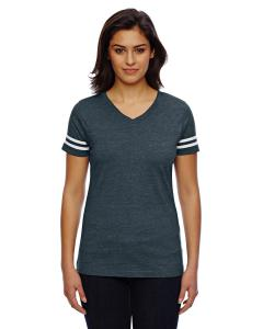 Vn Navy/ Bld Wht Ladies' Football T-Shirt