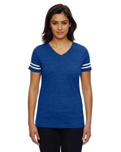 Vn Royal/ Bd Wht Ladies' Football T-Shirt
