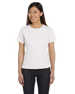 White Women's Combed Ringspun Jersey T-Shirt