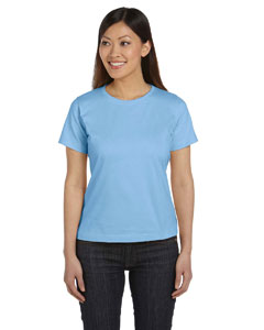 Light Blue Women's Combed Ringspun Jersey T-Shirt