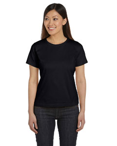 Black Women's Combed Ringspun Jersey T-Shirt