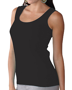 Black Women's Scoop Neck Jersey Tank
