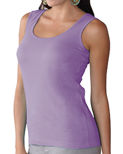 Lavender Women's Scoop Neck Jersey Tank