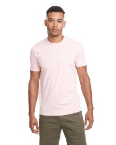 Light Pink Men's Premium Fitted Short-Sleeve Crew