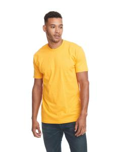 Gold Men's Premium Fitted Short-Sleeve Crew