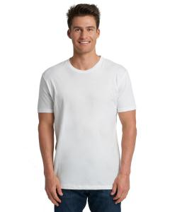 White Men's Made in USA Cotton Crew