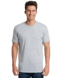 Heather Gray Men's Made in USA Cotton Crew