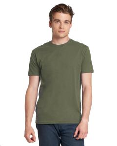 Military Green Men's Made in USA Cotton Crew