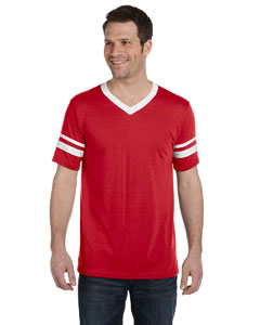 Red/white Adult Sleeve Stripe Jersey