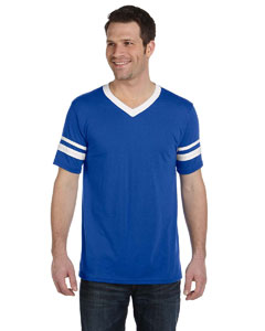Royal/white Adult Sleeve Stripe Jersey