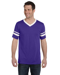 Purple/white Adult Sleeve Stripe Jersey