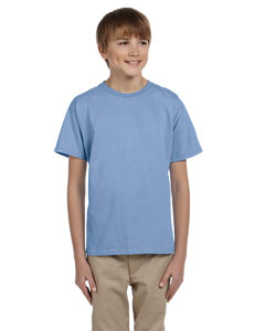 Light Blue Youth 5 oz. HiDENSI-T® T-Shirt