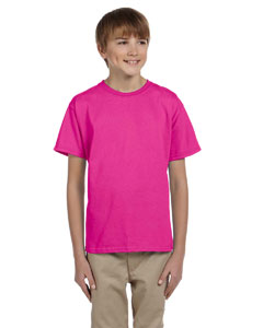 Cyber Pink Youth 5 oz. HiDENSI-T® T-Shirt