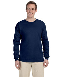 J Navy 5 oz. HiDENSI-T® Long-Sleeve T-Shirt