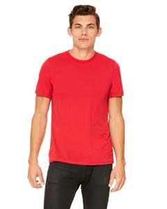 Red Unisex Poly-Cotton Short-Sleeve T-Shirt