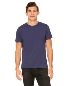 Navy Unisex Poly-Cotton Short-Sleeve T-Shirt