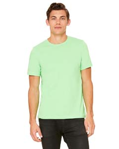 Neon Green Unisex Poly-Cotton Short-Sleeve T-Shirt