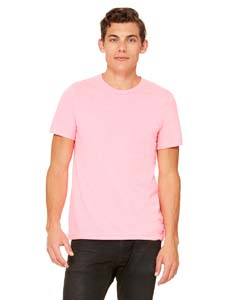 Neon Pink Unisex Poly-Cotton Short-Sleeve T-Shirt