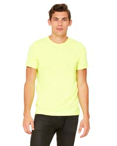 Neon Yellow Unisex Poly-Cotton Short-Sleeve T-Shirt