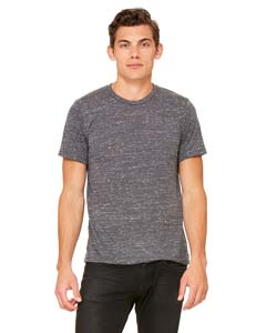 Charcoal Marble Unisex Poly-Cotton Short-Sleeve T-Shirt