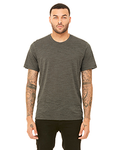 Olive Slub Unisex Poly-Cotton Short-Sleeve T-Shirt