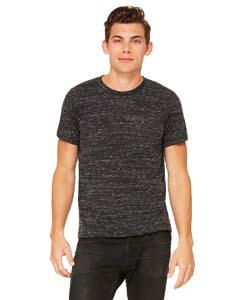 Black Marble Unisex Poly-Cotton Short-Sleeve T-Shirt