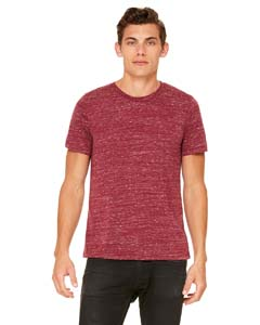 Maroon Marble Unisex Poly-Cotton Short-Sleeve T-Shirt