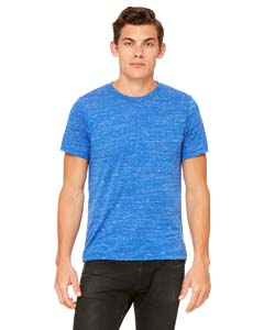 True Royal Mrble Unisex Poly-Cotton Short-Sleeve T-Shirt