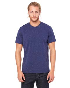 Navy Speckled Unisex Poly-Cotton Short-Sleeve T-Shirt