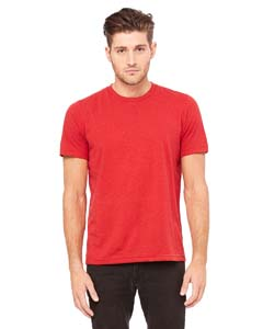 Red Speckled Unisex Poly-Cotton Short-Sleeve T-Shirt