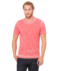 Red Acid Wash Unisex Poly-Cotton Short-Sleeve T-Shirt