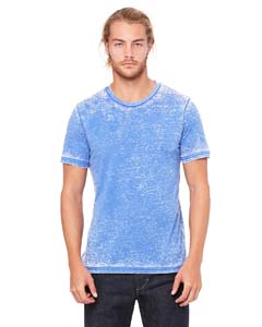 Tr Ryl Acid Wash Unisex Poly-Cotton Short-Sleeve T-Shirt