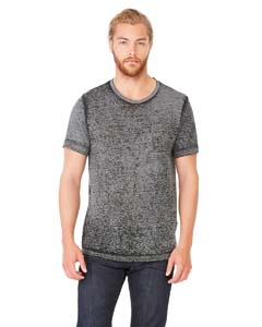 Blk Acid Wash Unisex Poly-Cotton Short-Sleeve T-Shirt