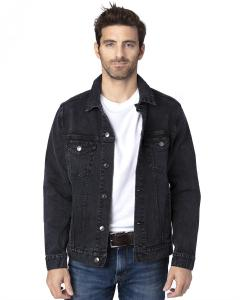 Black Denim Unisex Denim Jacket