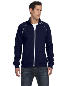 Navy/white Men's Piped Fleece Jacket