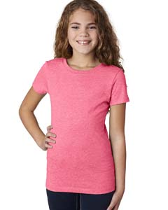 Neon Hthr Pink Girls' Princess CVC T-Shirt